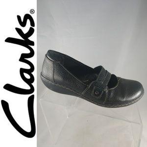 Clarks Collection Mary Jane Womens Sz 8 W Black